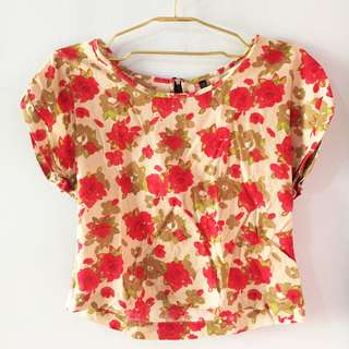 Topshop Loose Floral Top