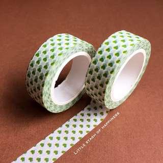 FREE NORMAL MAIL Green Mini Hearts Washi Tapes #026