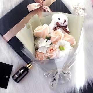 Lovely Bear Rose Soap Bouquet