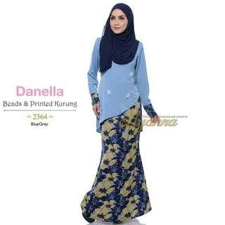 Danella Beads & Printed Kurung 2364