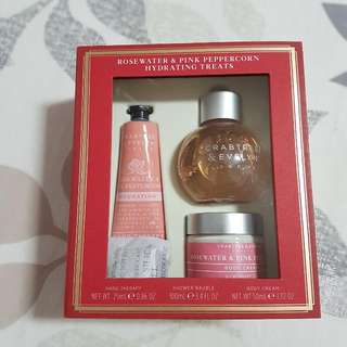 Crabtree & Evelyn Rosewater And Pink Peppercorn Set
