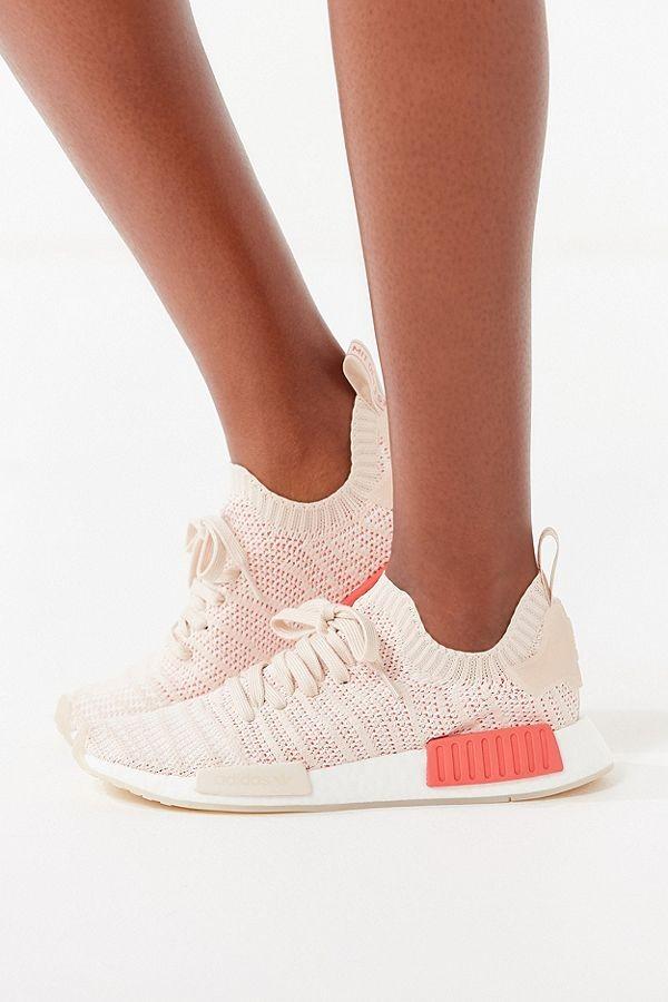 b5b308a4ef1e7 Adidas NMD R1 PK STLT W Womens Linen Pink - Crystal White