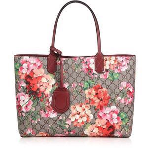 a8eb0da96185 AUTHENTIC Gucci reversible GG blooms tote bag MEDIUM