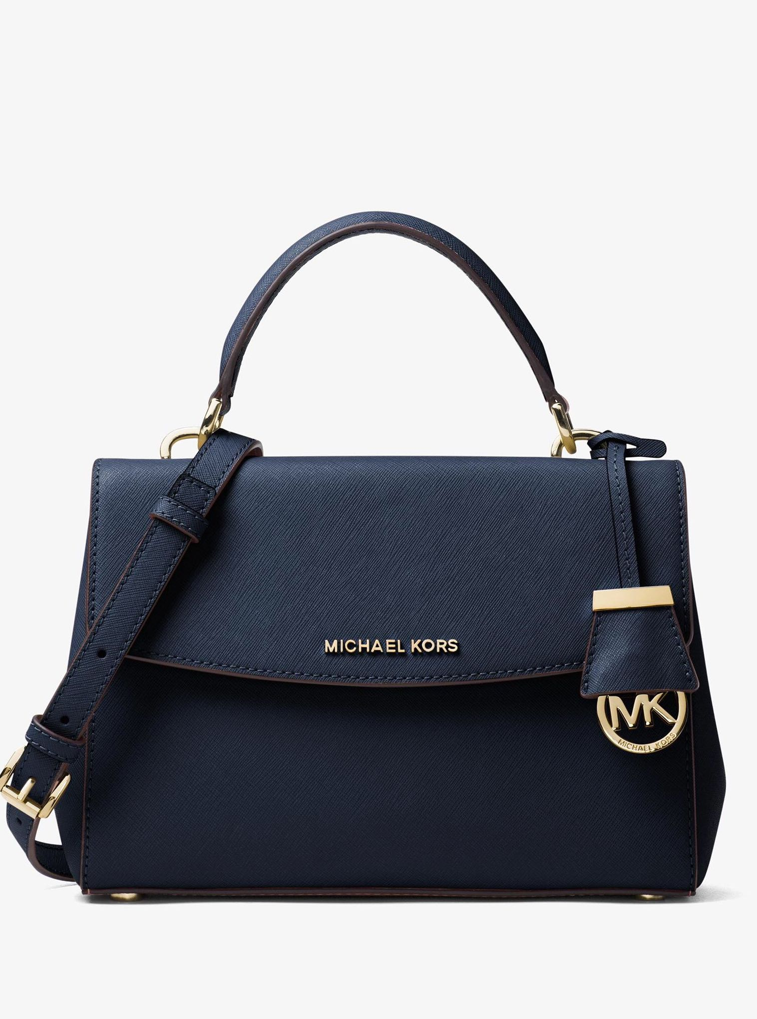 306a7dbe9 ... coupon code for authentic mk michael kors ava small saffiano leather  satchel shoulder crossbody sling bag