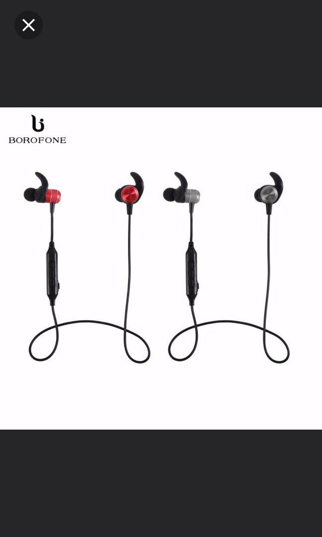 0c199f77370 (BNIB) Borofone BE5 Sports Bluetooth Water Resistant Earphone, Electronics,  Audio on Carousell