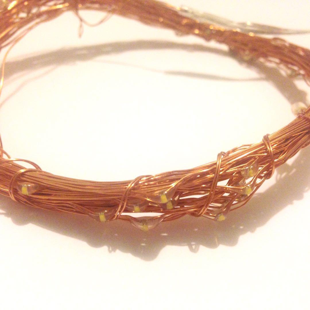 Copper fairy lights 10m