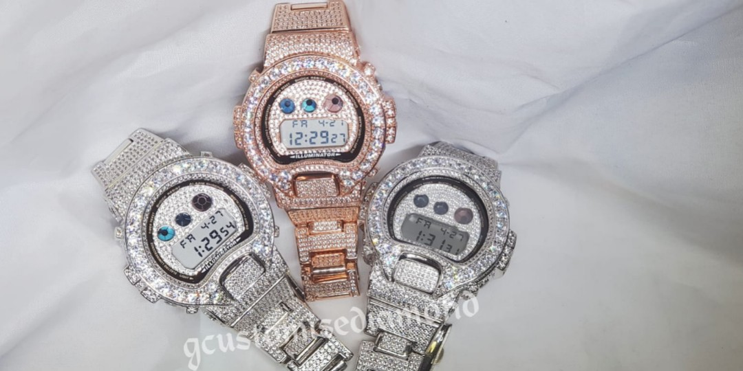 974fd3e3aebe Customise Ice Out Diamond Dw6900 Gshock/full customization /color ...
