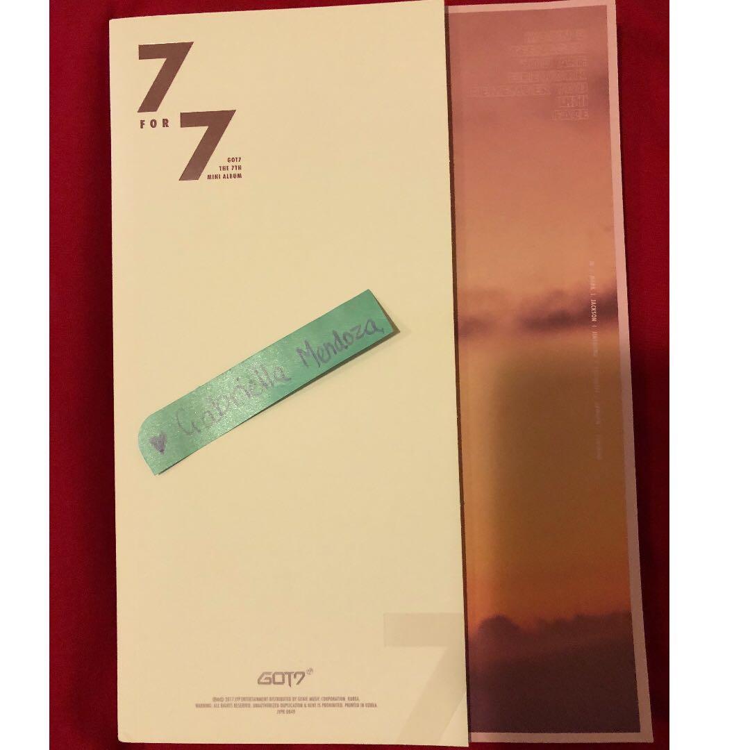 GOT7 7for7 albums