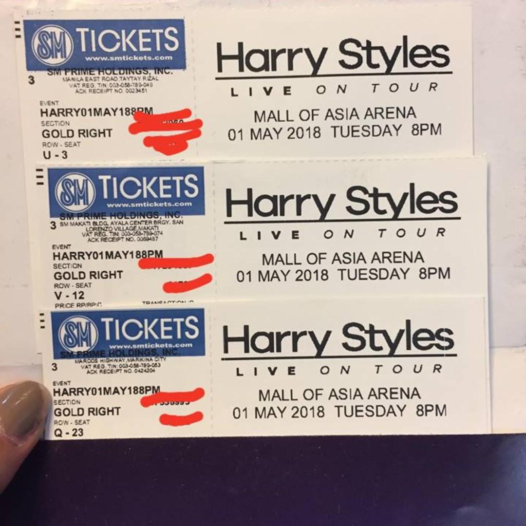 Harry Styles Gold Ticket Ticketsvouchers Event Tickets On Carousell