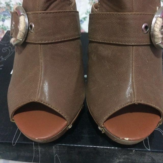 Marie Claire Brown Heels