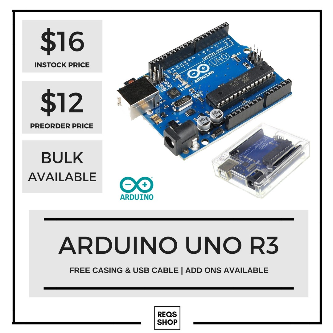 Ready Stock Arduino Uno R3 Free Casing Usb Cable Electronics Acrylic Case Photo