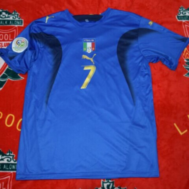 5fc088fb64a Retro Italy 2006 World Cup Jersey