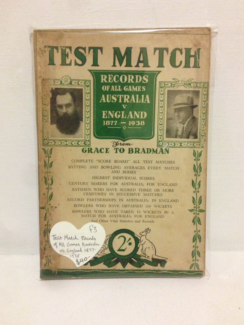 Test Match Records Of All Games Australia vs England 1877
