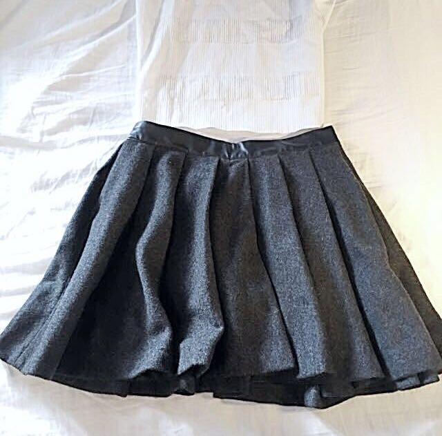 Winter pleated skirt