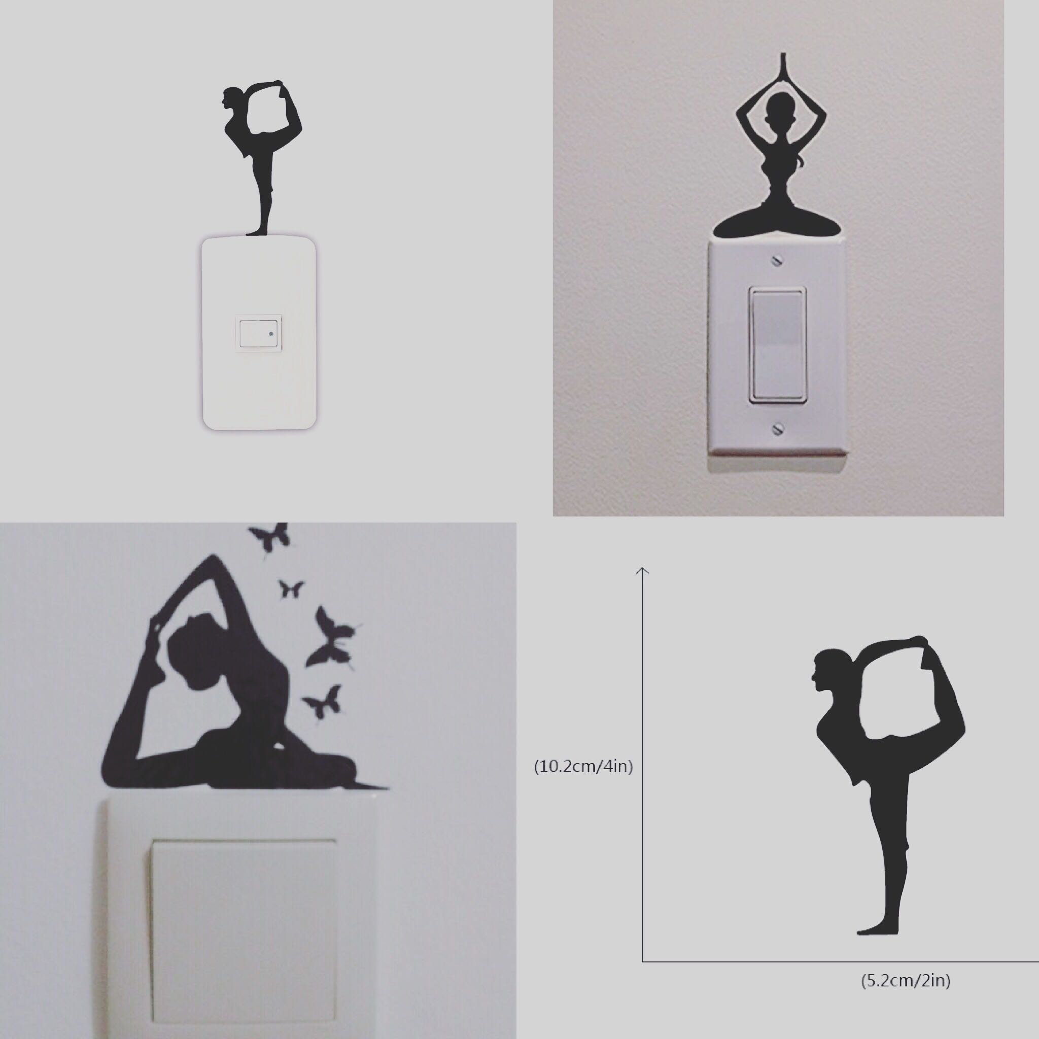 Yoga Girl Wall Stickers , Free Postage