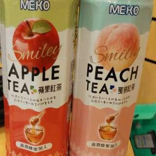 Meko蘋果蜜桃茶飲品drink