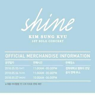 Sung Kyu 1st Solo Concert Shine Official Goods Infinite