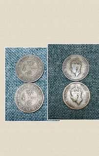 1948年2只1毫港幣