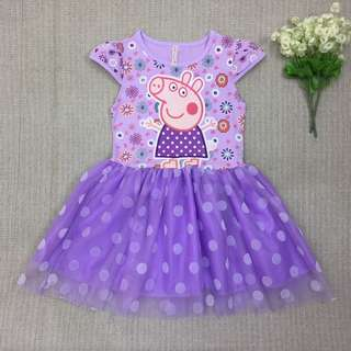 Peppa Pig dress For Age 2-5 yrs Old