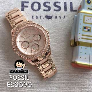 Big Deal - Fossil Watch Women Rose Gold Strap