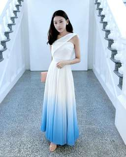 Theiry of Seven Bernad Ombre Toga dress