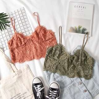 Intricate Lace Cropped Bralet