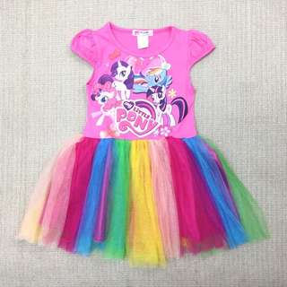 My Little Pony Dress For Age 2-8 yrs Old