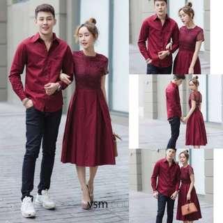 Couples set shirt and dress ; vshop
