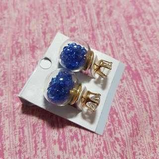 Glass Bubble Crystal Earrings