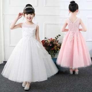 Summer flower girl dress 👗 princess dress 👑 birthday 🎂 party 🎈 dress