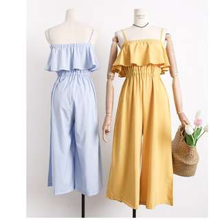 Parly Jumpsuit- Blue & Mustard