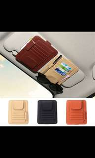 Oxford cloth  Car Sortage Card Holder Car Sun Visor Card Holder Car Orgnizer Box Card Case Car Interior Accessory