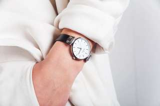 Mockberg black & silver watch BRAND NEW
