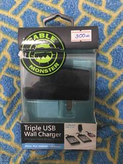 Cable Monster Triple USB Wall Charger