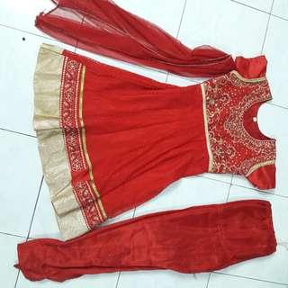 Red Punjabi Suit size 26