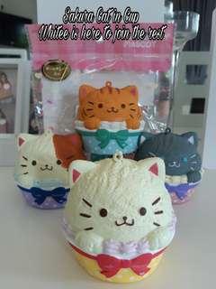 SQUISHY SAKURA CAT In Cup Cake