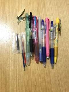 文具福袋(有:muji無印、海洋公園、juice、五色hi-tec-c、比卡超原子筆等