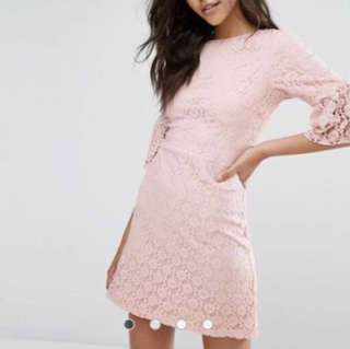 Miss Selfridge Lace Bell Sleeved Dress