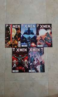 "X-Men Vol 3 (Marvel Comics 5 Issues, #15.1 to 19; complete story arc on ""Fantastic Four"")"