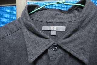 Uniqlo灰襯衫/7.5成新