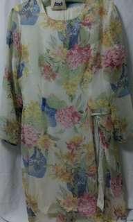 🚚 Dress flower dress 80%new 近全新 長袖洋裝 雪紡洋裝 花裙