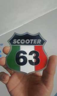 Scooter badge 1963 vespa lambretta
