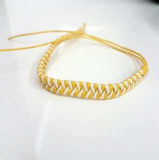☆ Handmade 🌞 sunshine friendship band wrislet