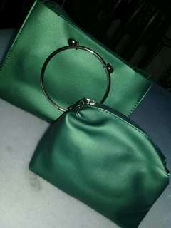 Stylish 2 in 1 Fashion Bag Green Color