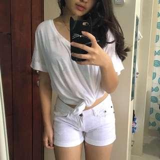 GUESS Jeans Short Pants Celana Pendek Putih