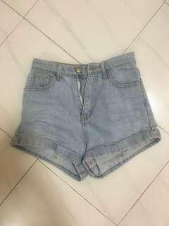 American Apparel Highwaisted Denim Shorts