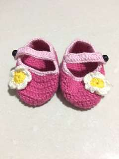 Pink Crochet Shoes