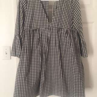 ZARA GINGHAM DOLL DRESS