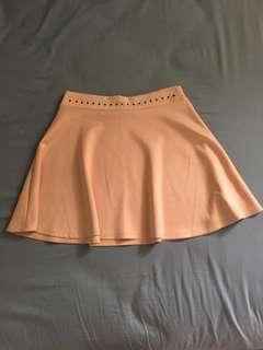 Blush pink skater skirt