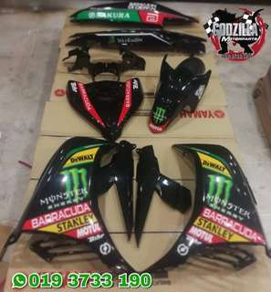 COVERSET YAMAHA 135LC V2 V3 V4 MONSTER ENERGY TECH 3 HAFIZ SYAHRIN